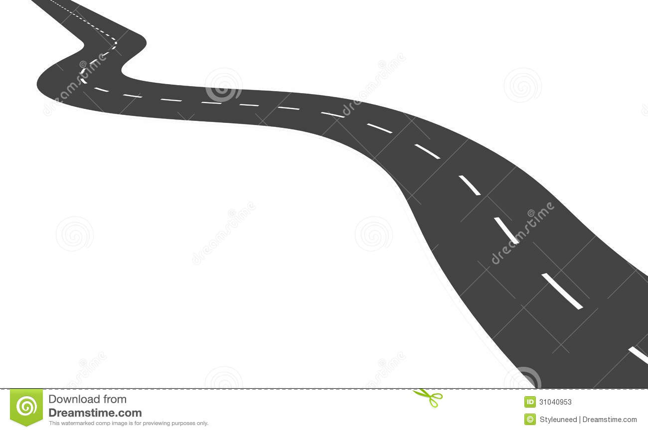 Dessin De Route route sinueuse illustration stock. illustration du course - 31040953