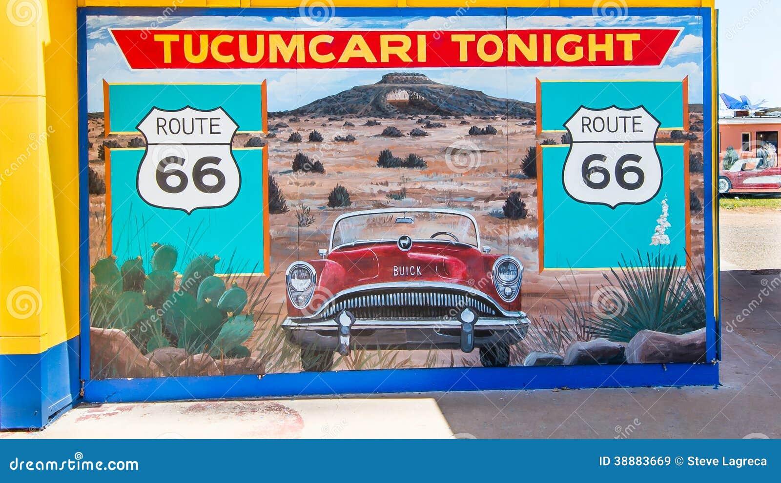 Route 66 tucumcari tonight mural nm editorial stock for Route 66 mural