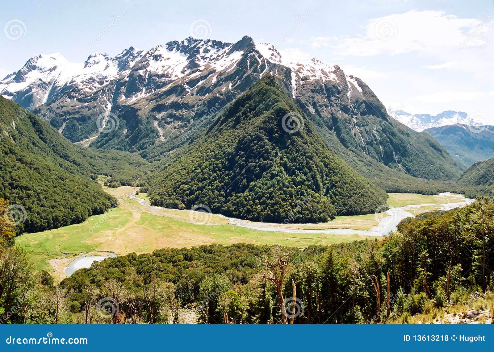 New Zealand Time Image: Routeburn Track, New Zealand Stock Photo