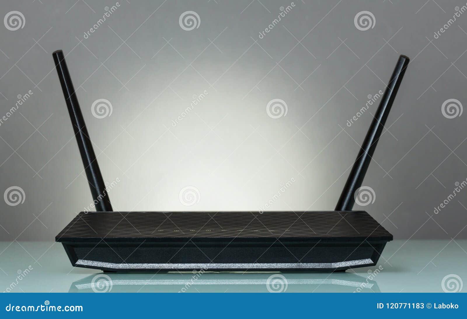 Router dla bezprzewodowego związku przyrząda internet na szarość,