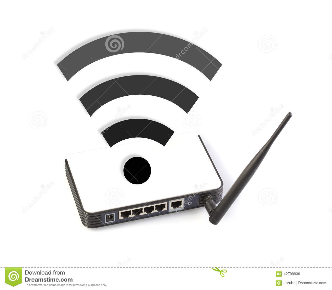 Router With Wifi Symbol Stock Illustration Illustration Of Free