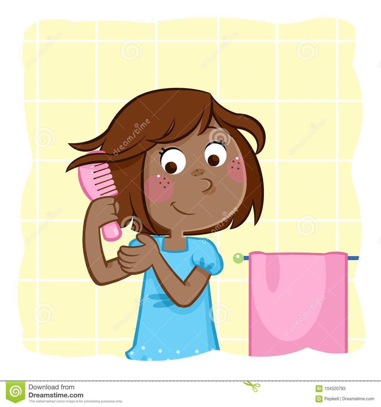 Combing Hair Stock Illustrations 802 Combing Hair Stock Illustrations Vectors Clipart Dreamstime