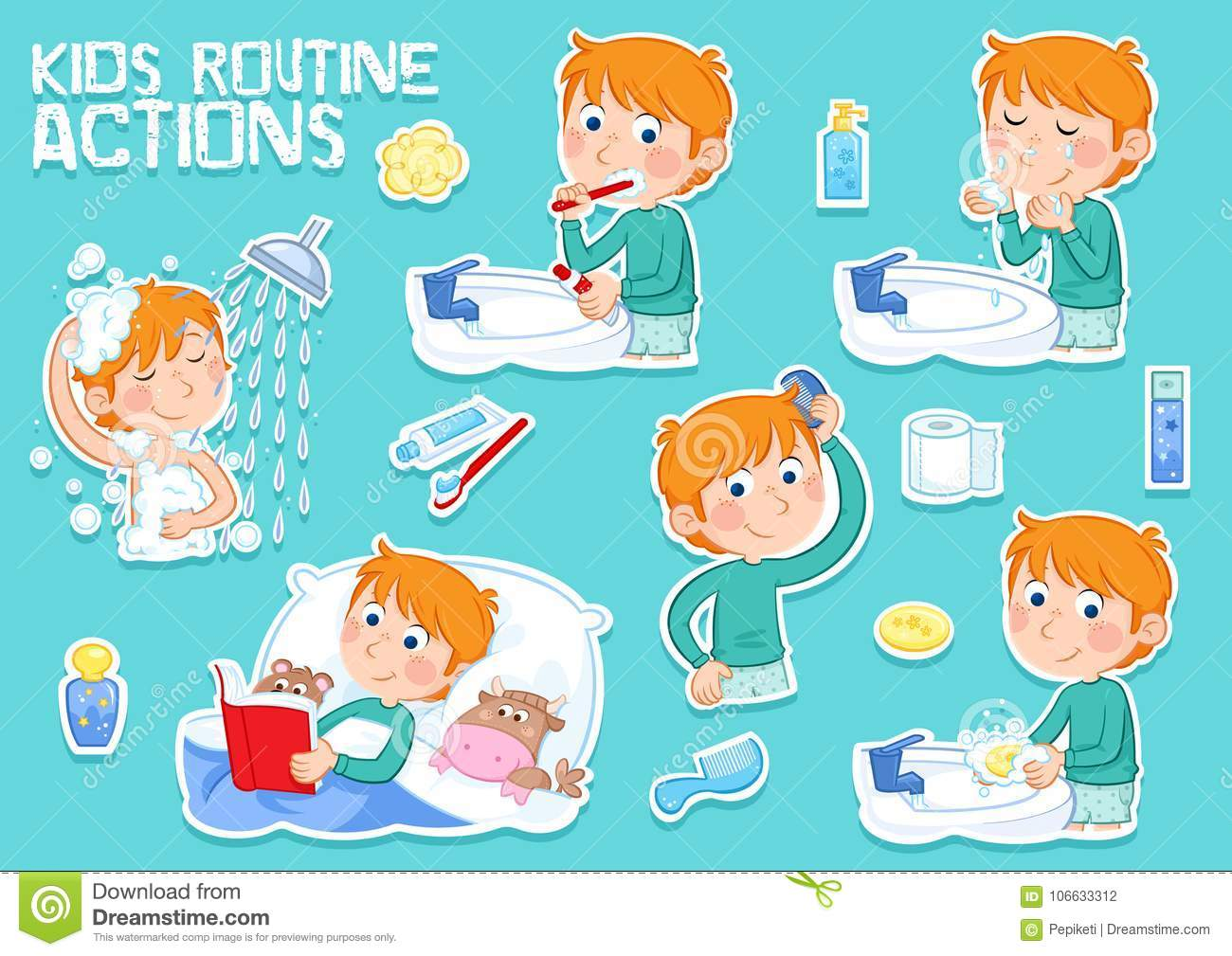 Ginger Desenho intended for bedtime story stock illustrations – 267 bedtime story stock