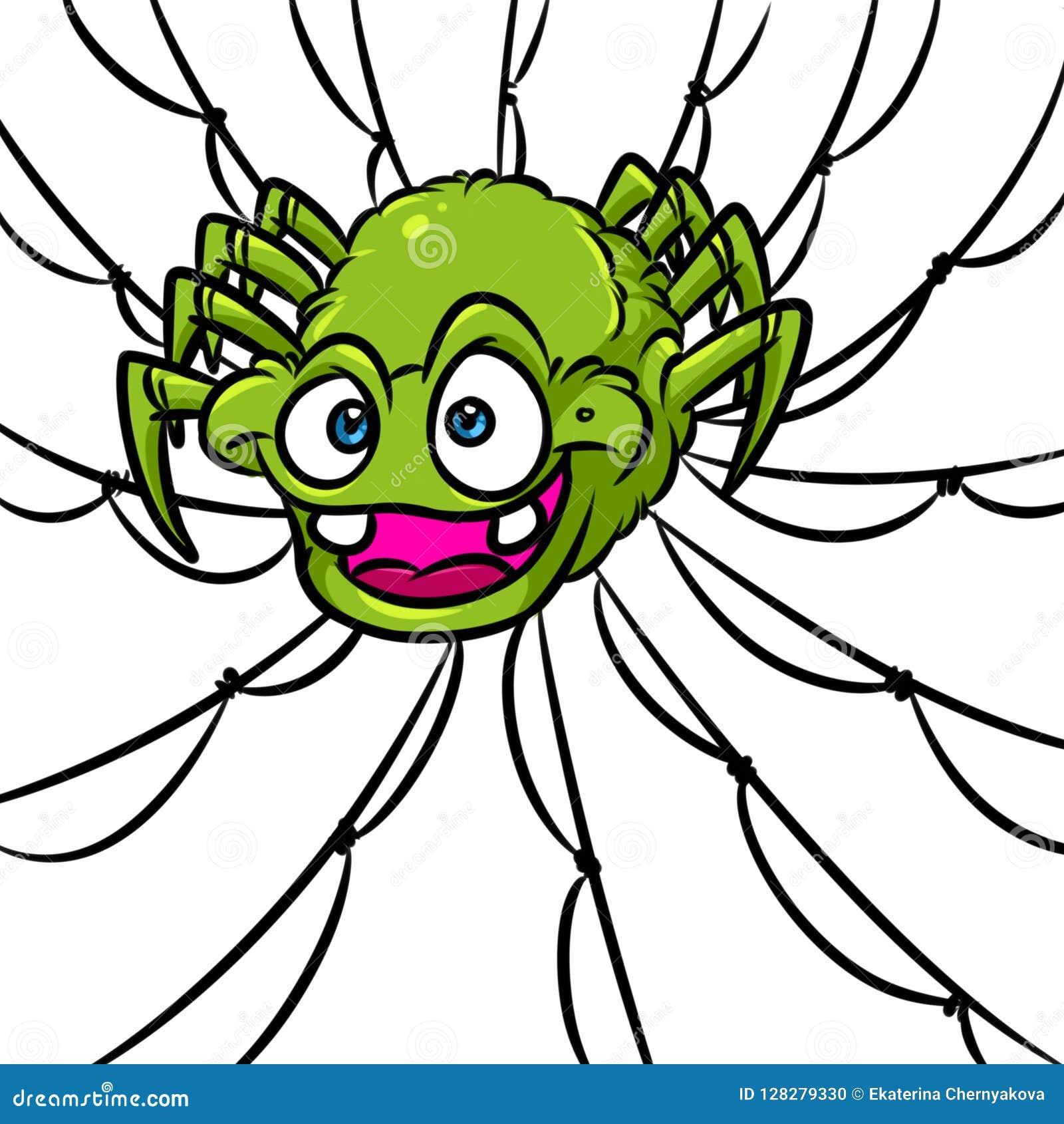 Rov- tecknad film för sökande för rov för spindelrengöringsduk