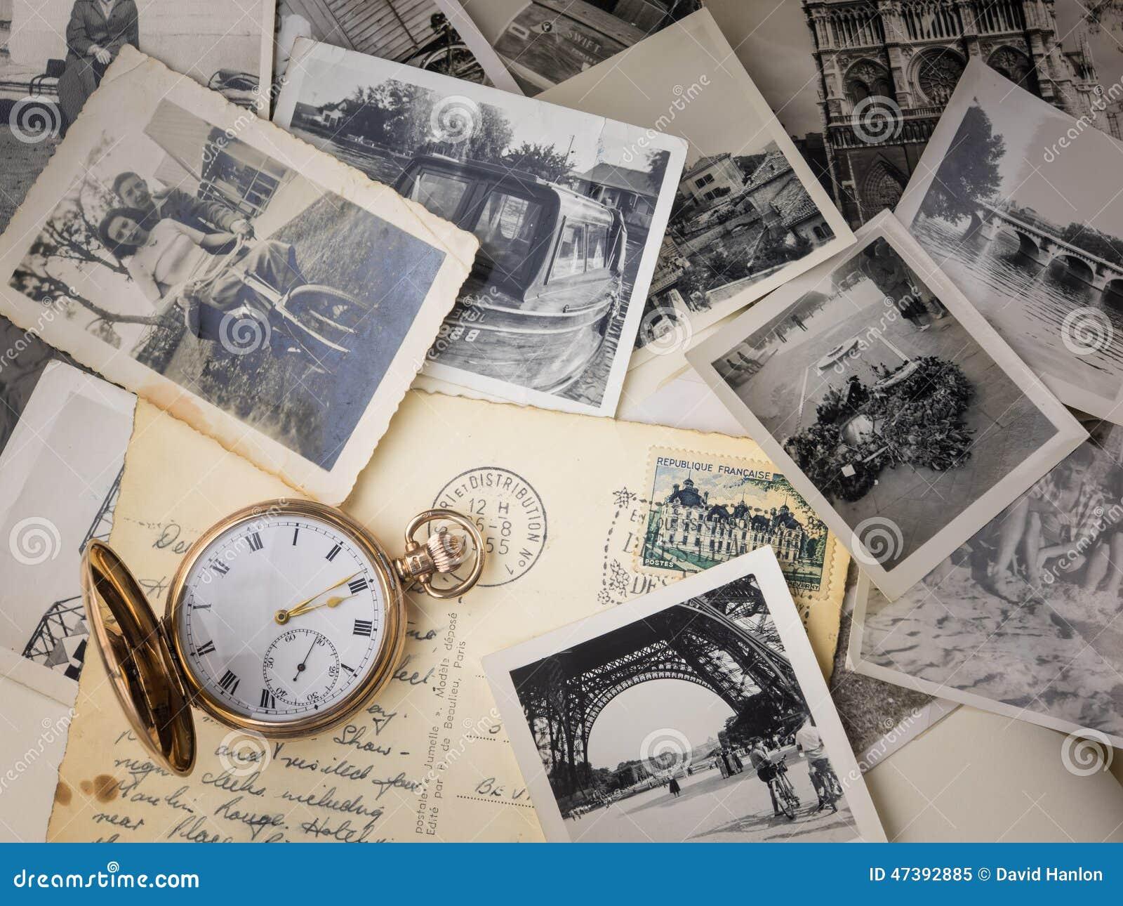 Rova med gamla fotografier