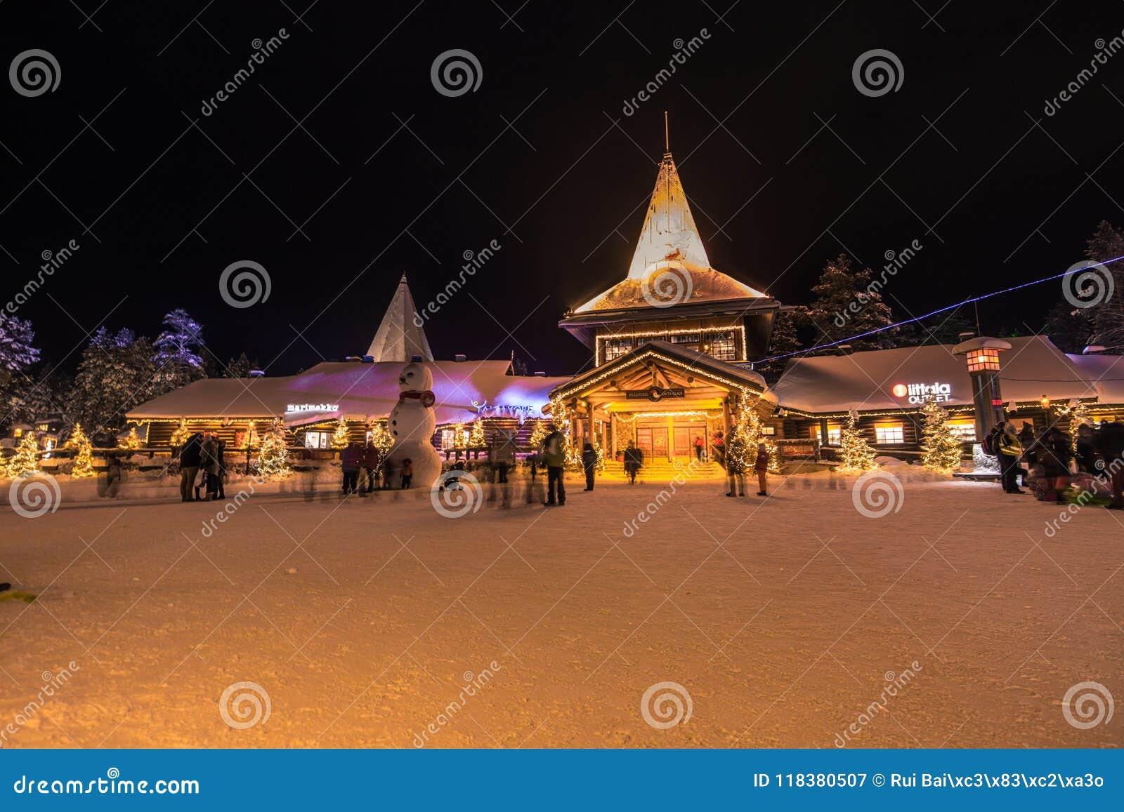 Rovaniemi - 16 décembre 2017 : Village de Santa Claus de Rovaniemi,