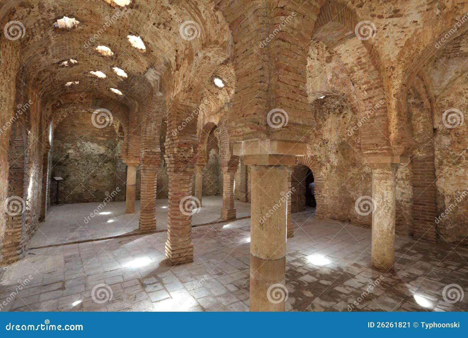 Rovina Araba Del Bagno A Ronda Spagna Immagine Stock