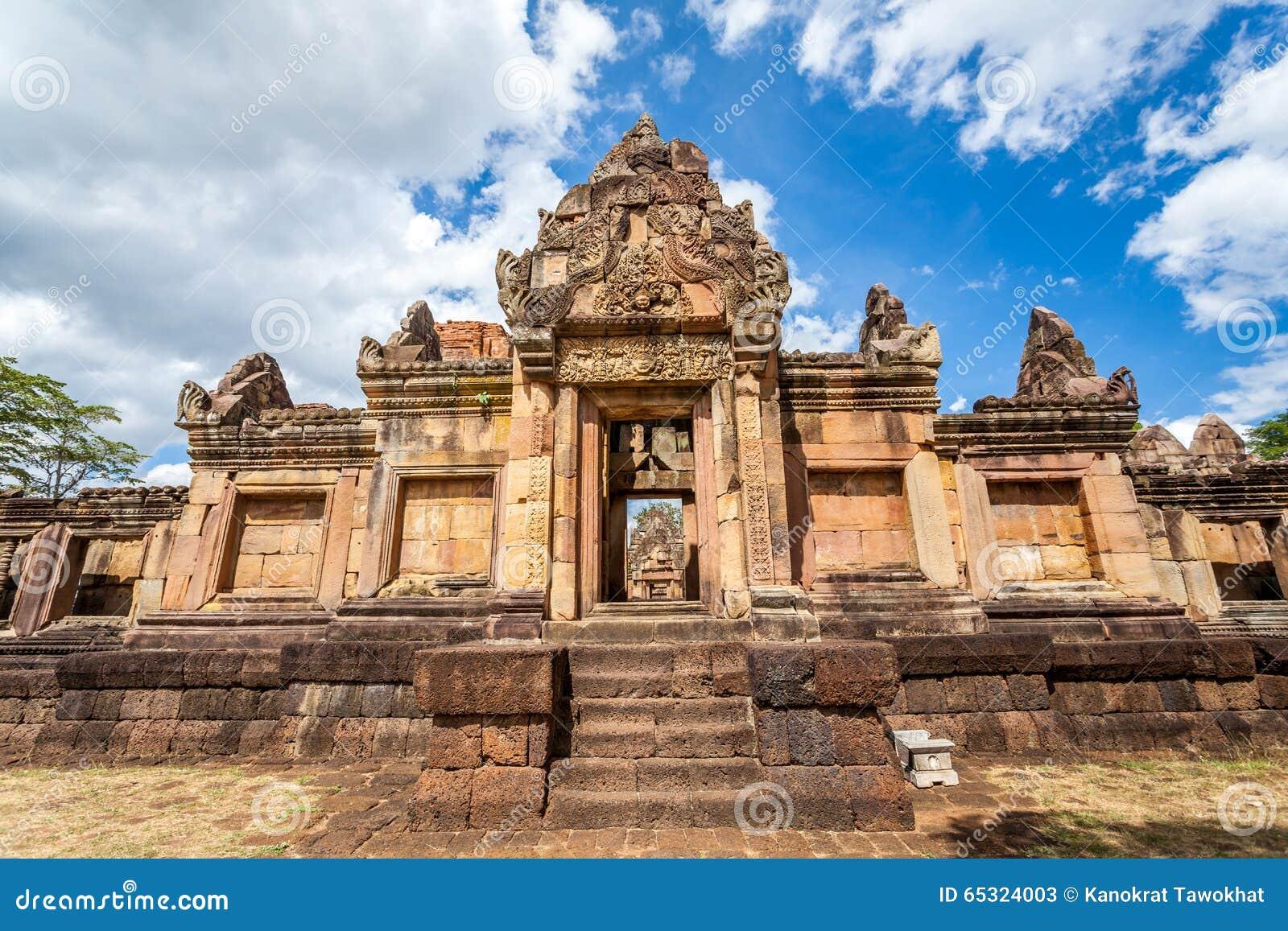 Rovina religiosa di Prasat Hin Mueang Tam Hindu situata in Buri Ram Province Thailand