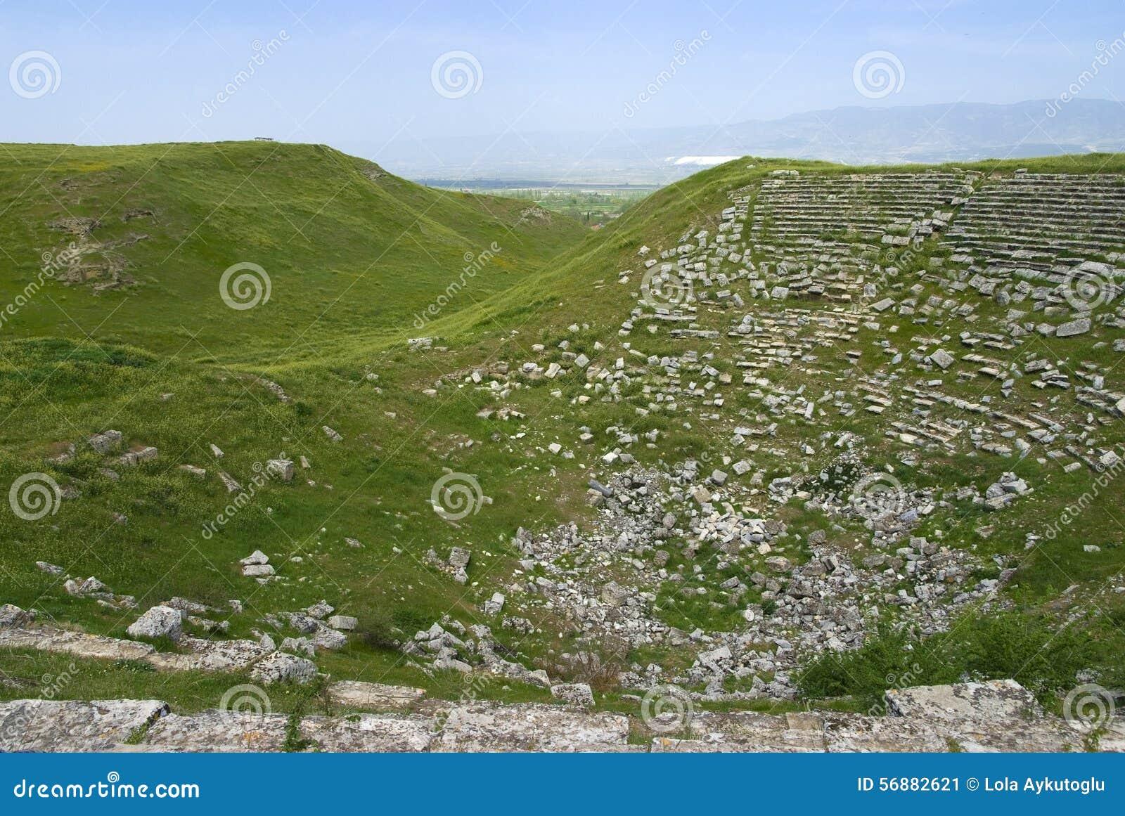 Rovine antiche del teatro, le rovine di Laodicea una città di Roman Empire