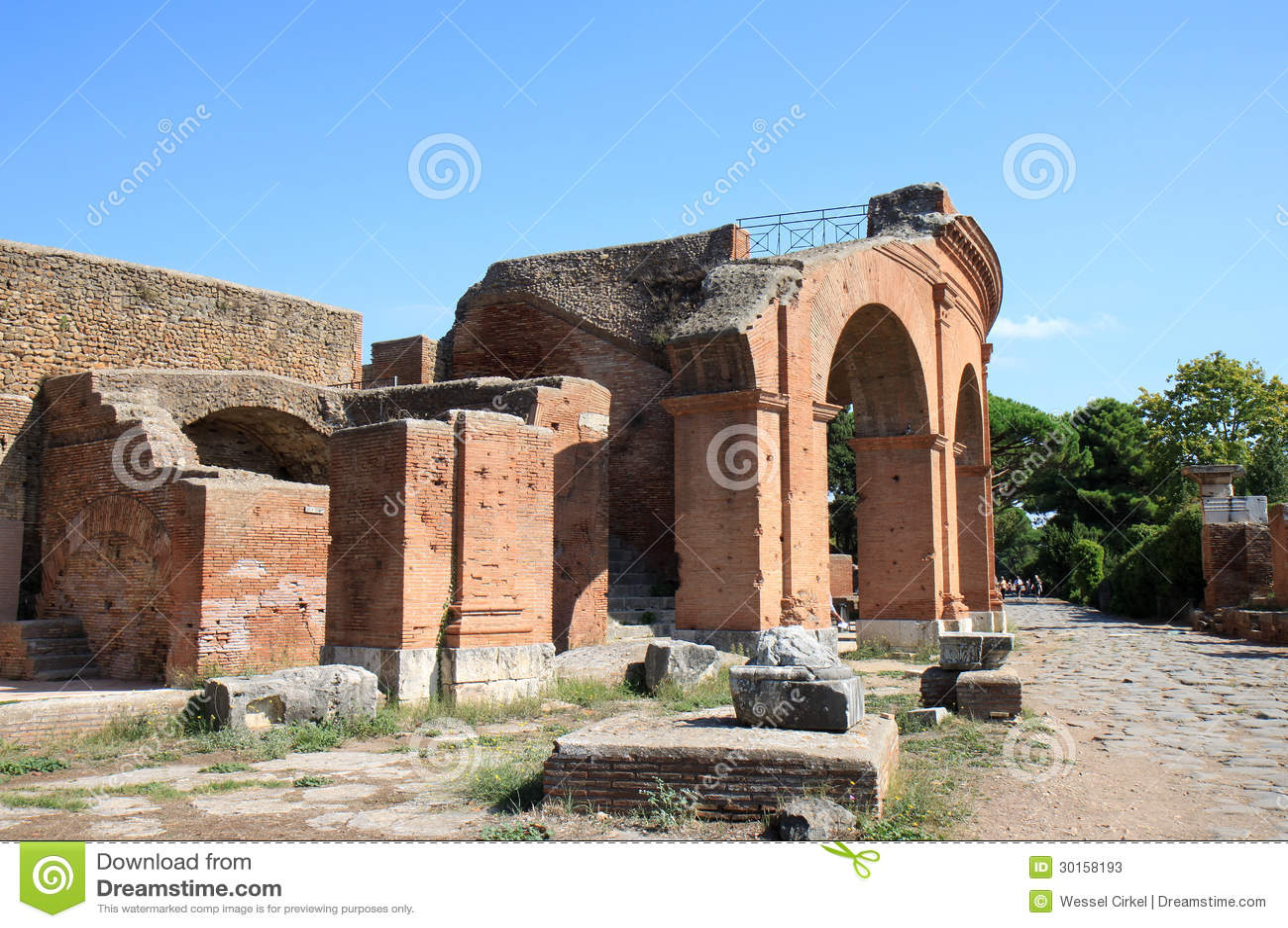 Rovine del amfitheatre di ostia antica italia fotografie for Mr arredamenti ostia antica