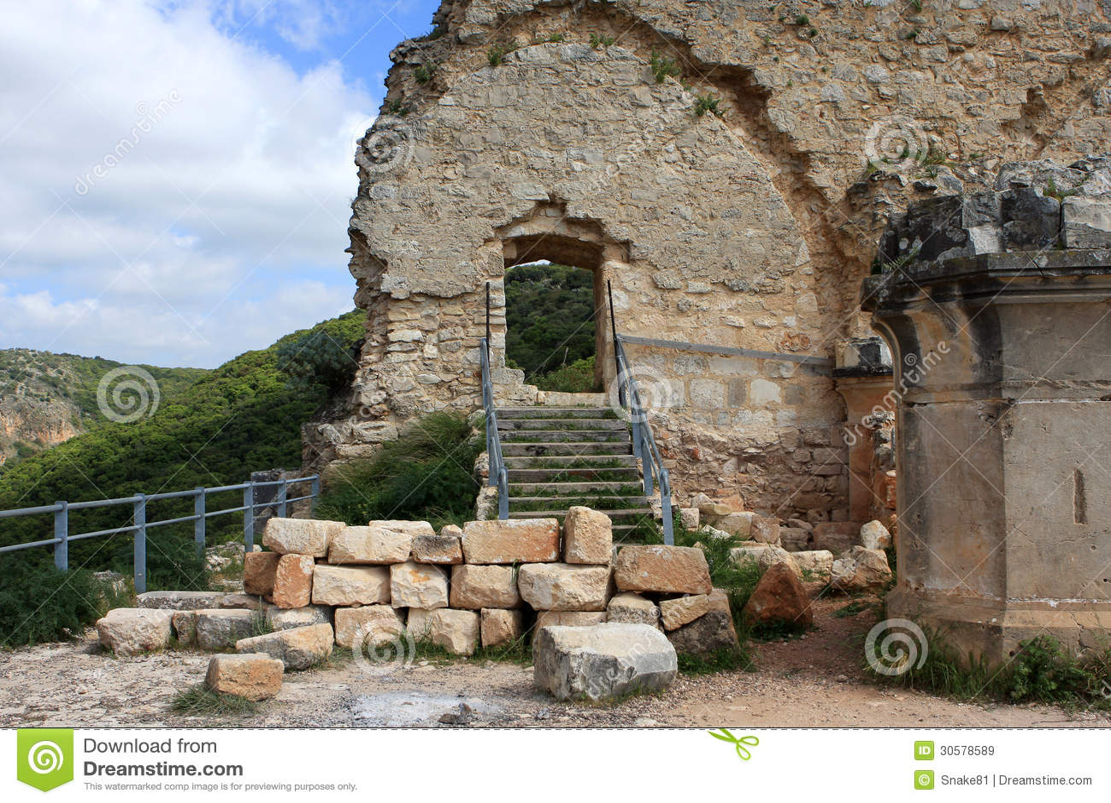 Rovine del castello di Monfort, Israele