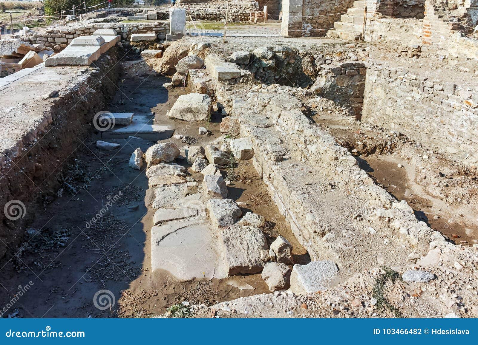 Rovine della città antica Heraclea Sintica - costruito da Philip II di Macedon, Bulgaria
