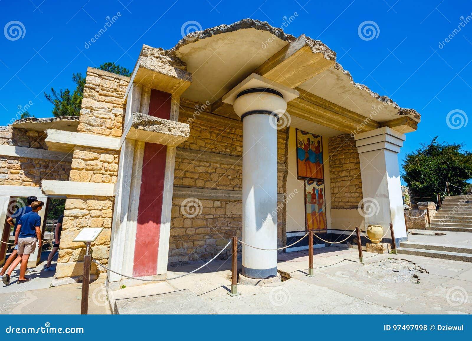 Rovine sceniche del palazzo di Minoan di Cnosso