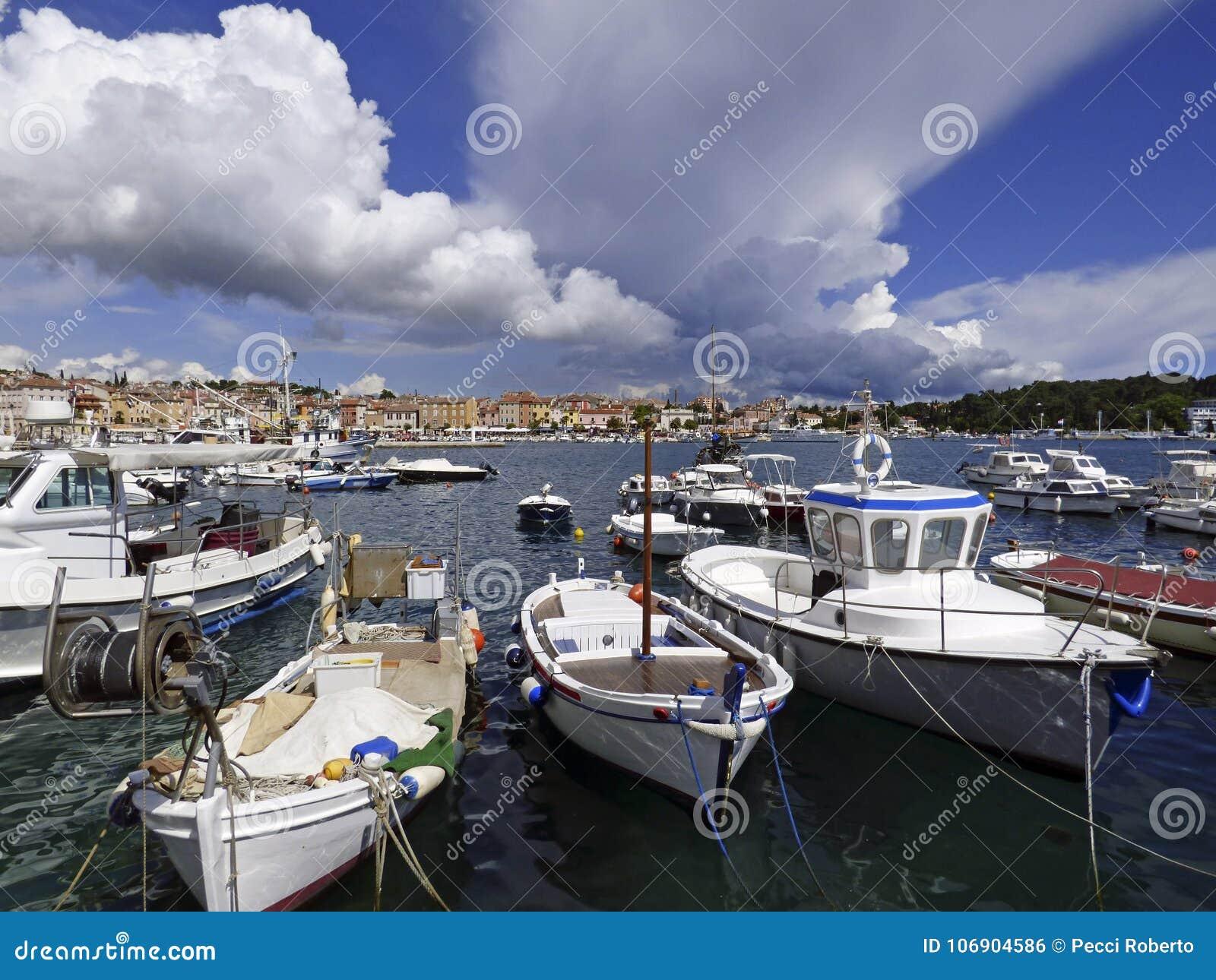 Rovinj, Istria, Chorwacja, widok schronienie