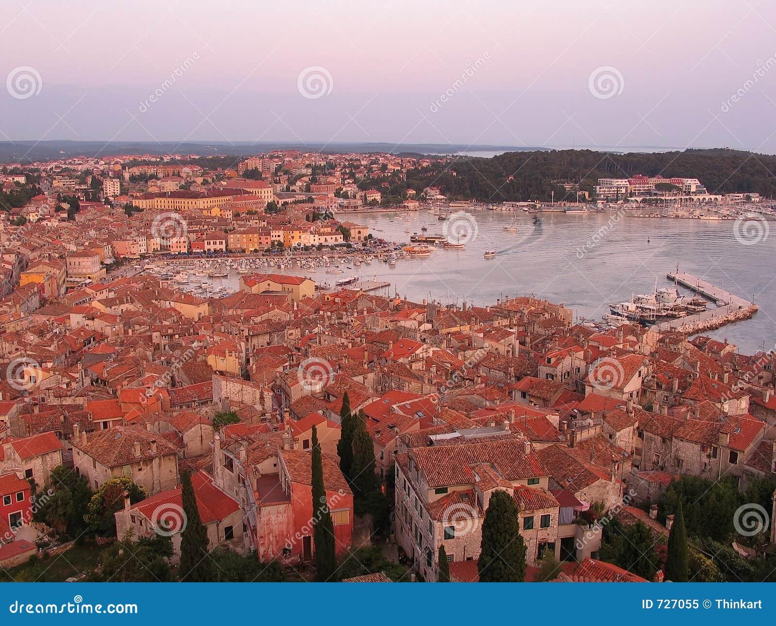 Rovinj - vieille ville avec le compartiment