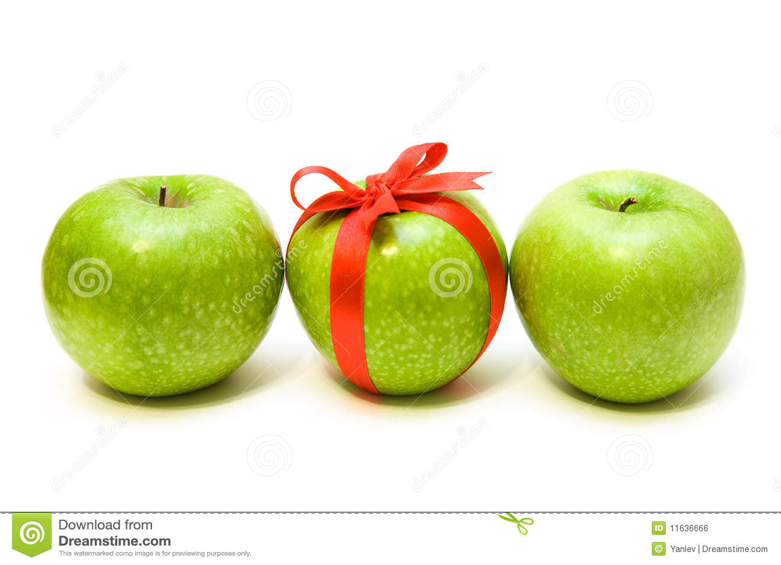 Row apples