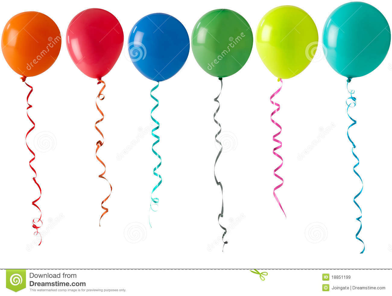 Row of balloons on a white background royalty free stock images image 18851199