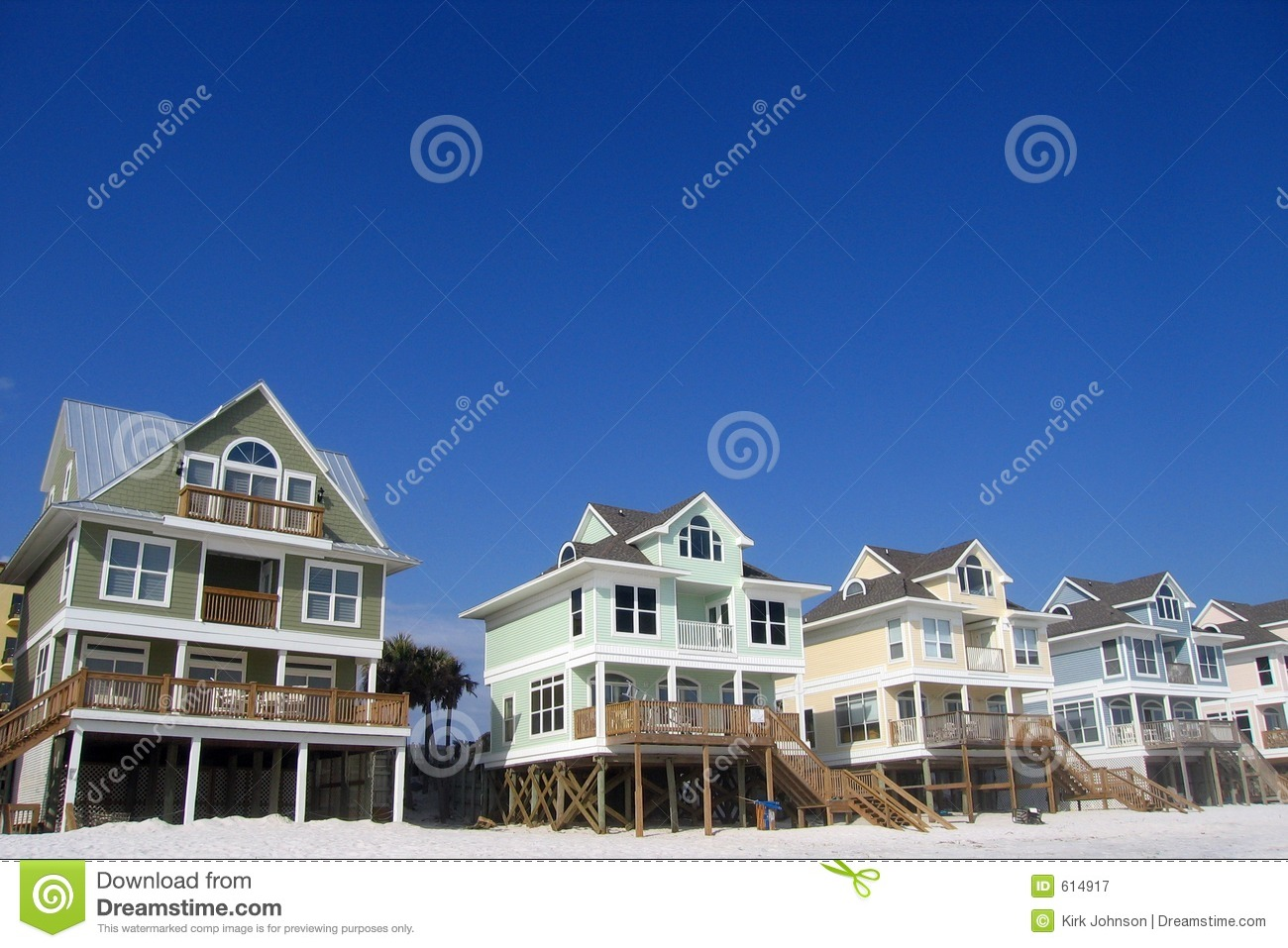Row Of Beach Homes Royalty Free Stock Photography Image