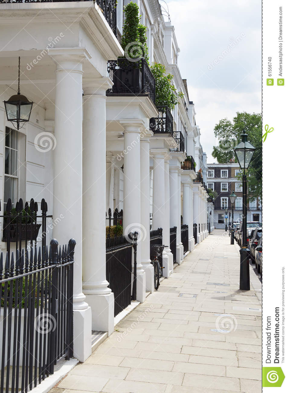 16 Row House Interior Design Ideas: Row Of Beautiful White Edwardian Houses In London Stock