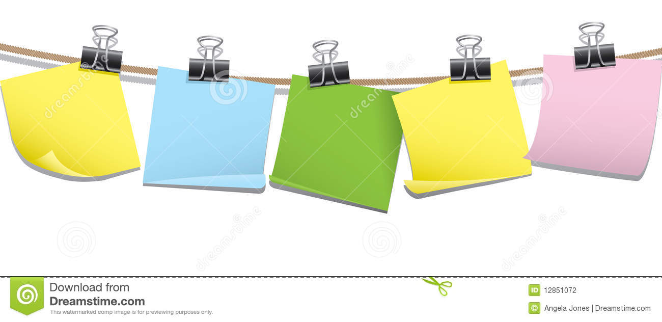 row of blank memo notes stock photography image 12851072 row of blank memo notes