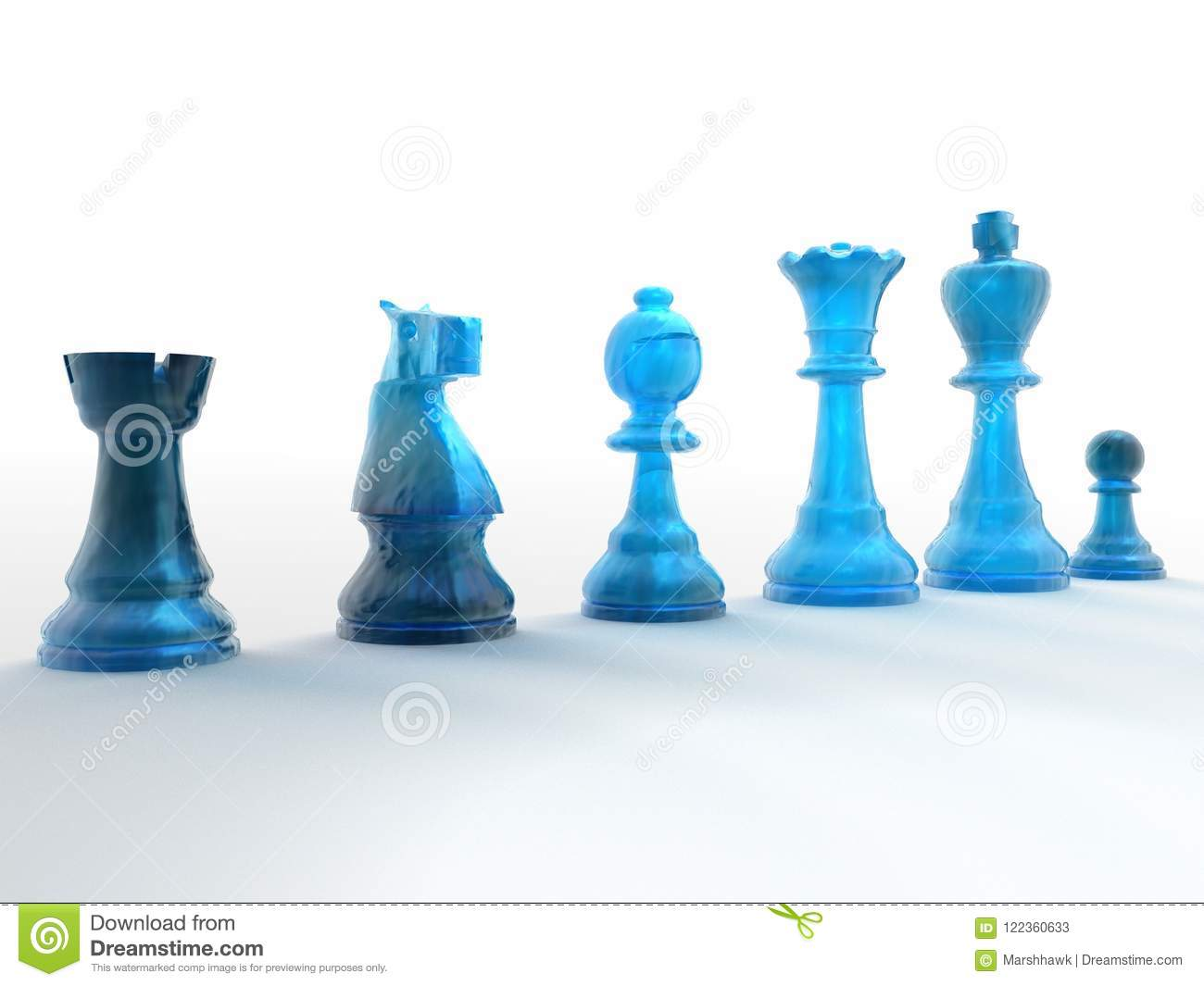 row of blue chess pieces stock image image of chess 122360633