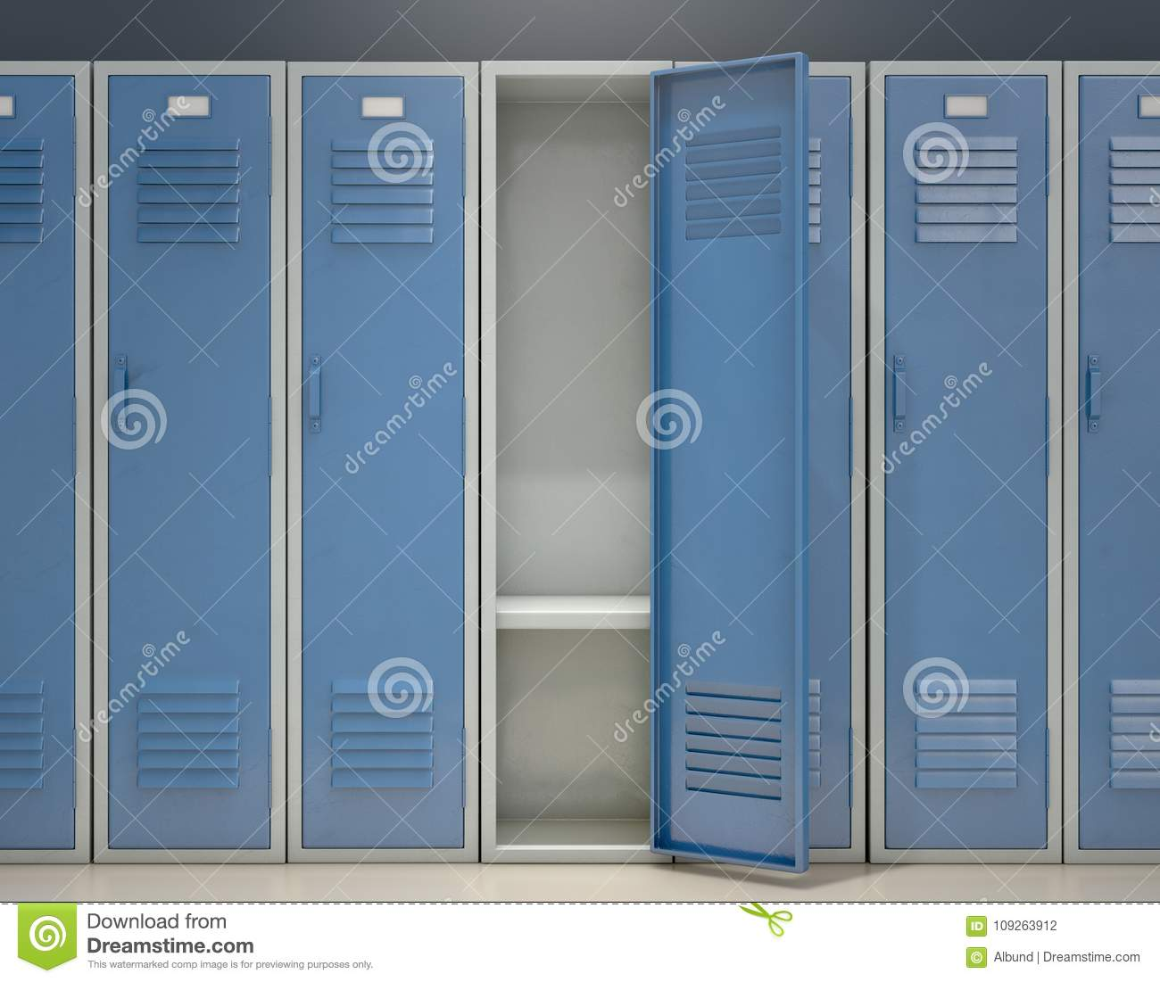 Locker Open Stock Illustration Of Gymnasium