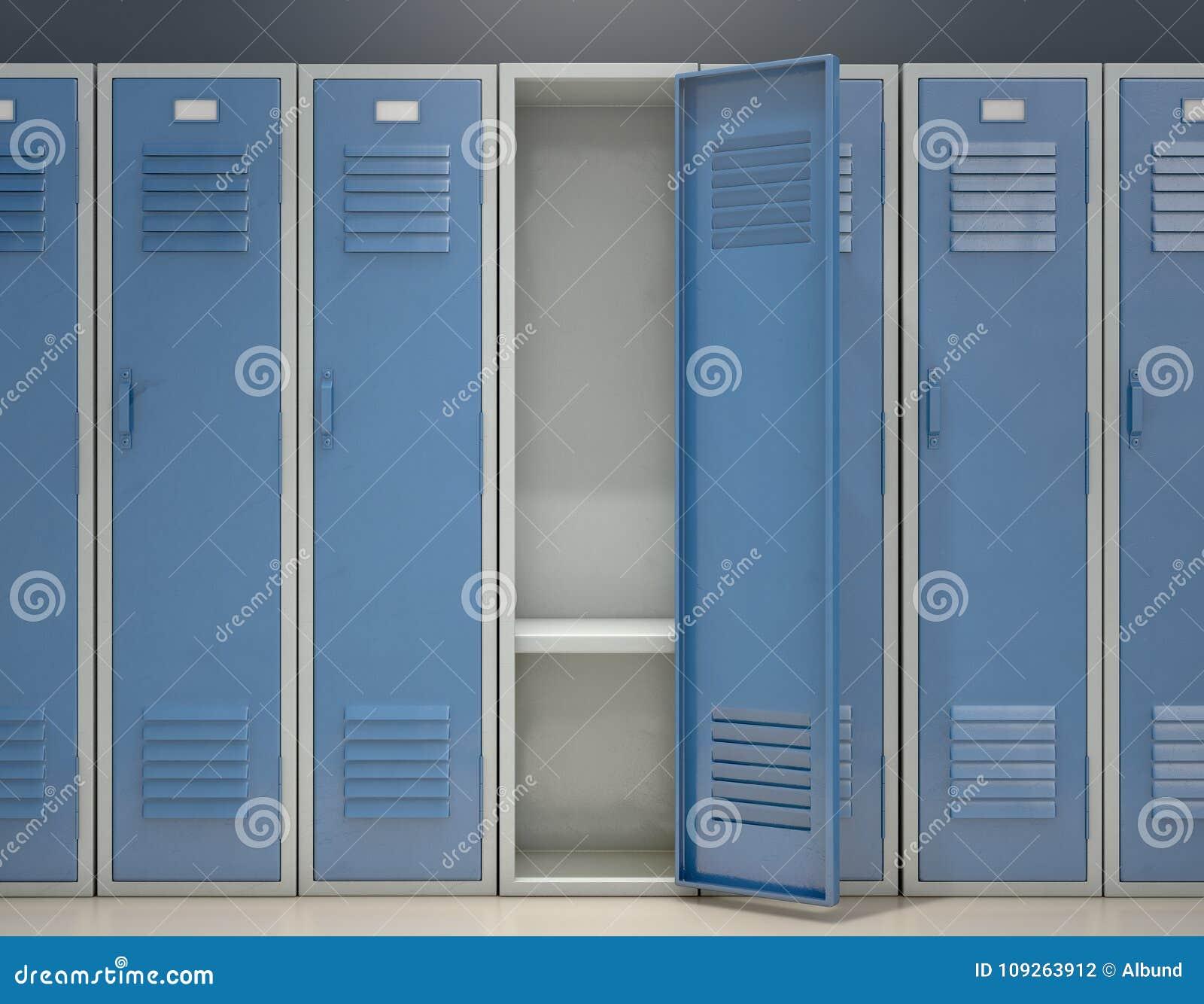 Locker Open Stock Illustration Of Gymnasium