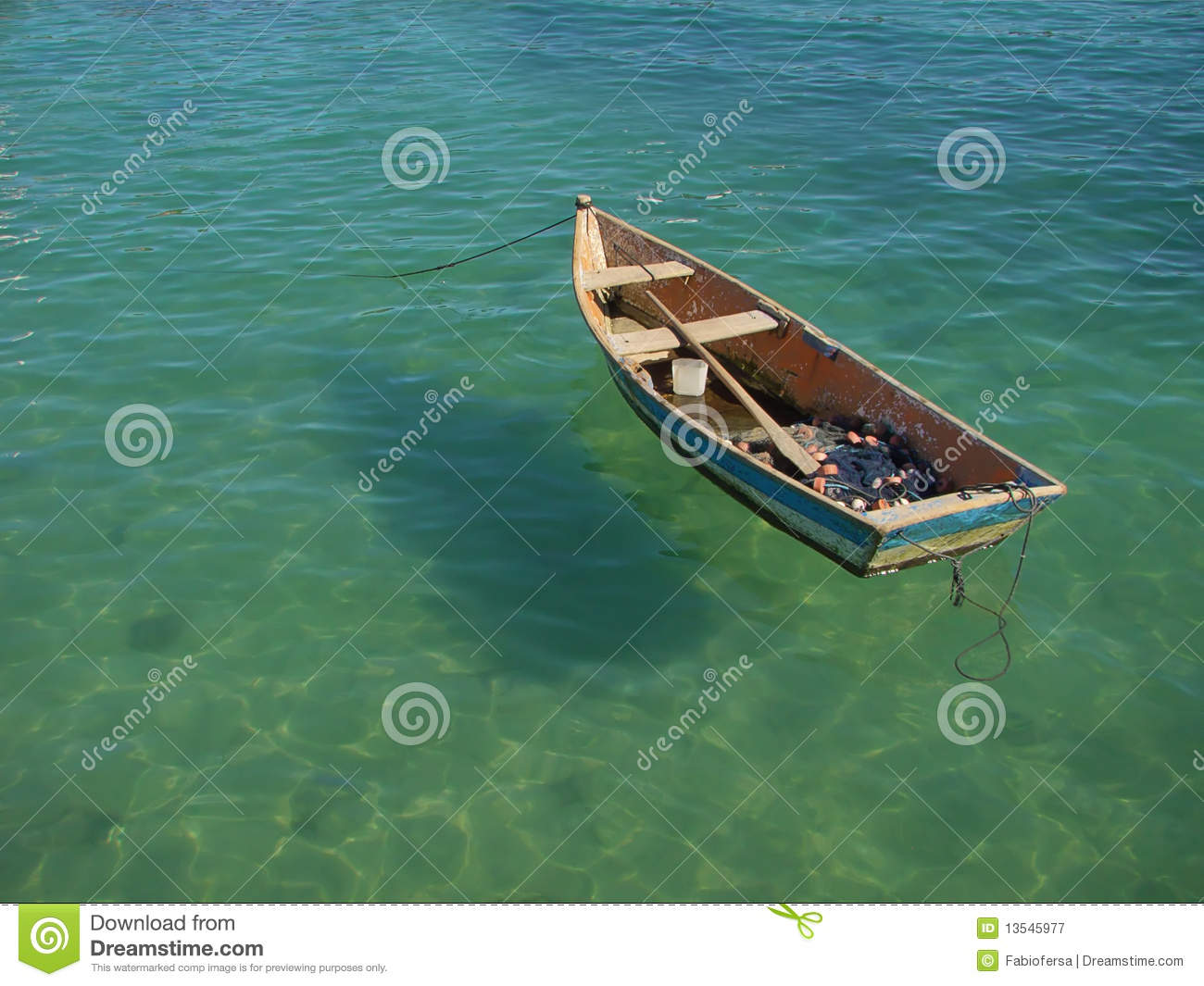 Row Boat Floating On The Water Royalty Free Stock Photography - Image: 13545977