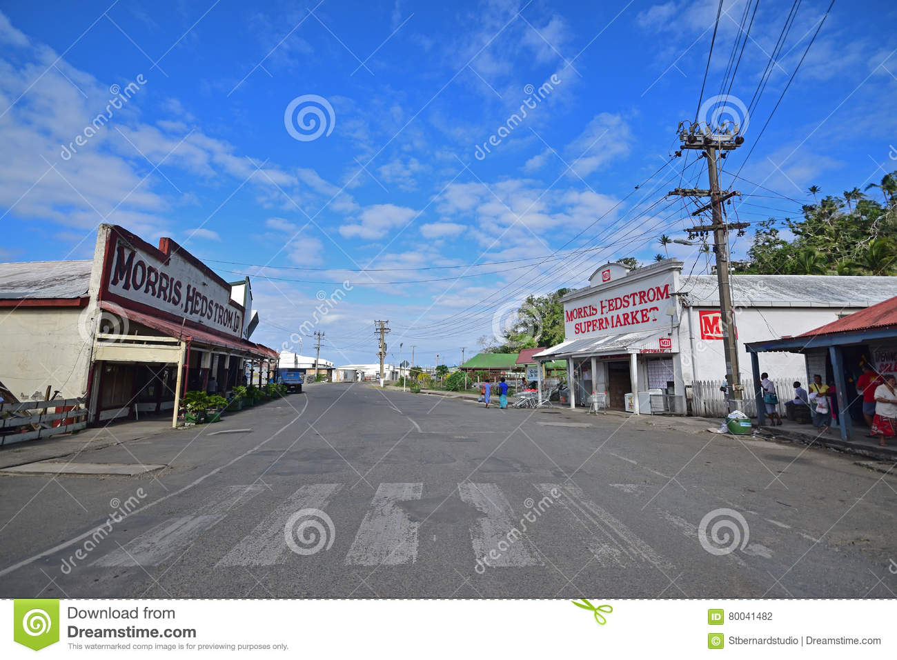 Row Of Buildings On Both Sides Of Beach Street At Levuka