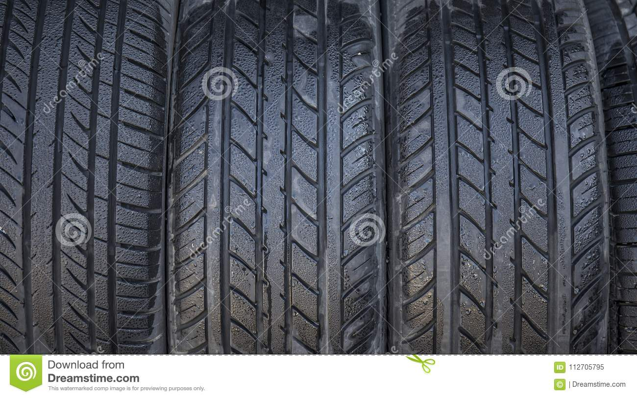 Wet Tires Close Up