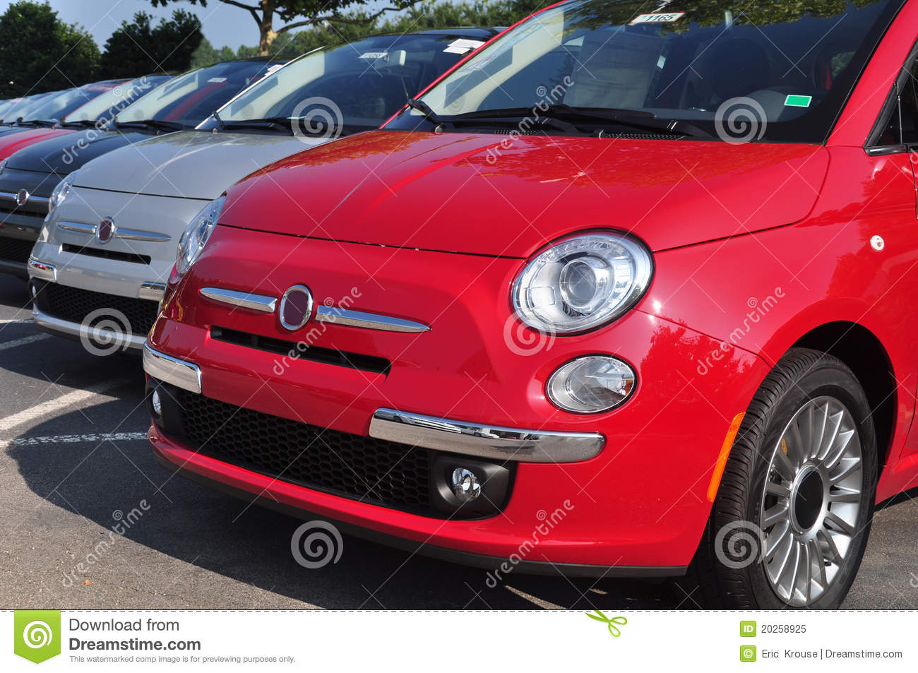 Expensive Car For Sale Or Gift Royalty Free Stock Image: Row Of Cars In Dealership Royalty Free Stock Photo