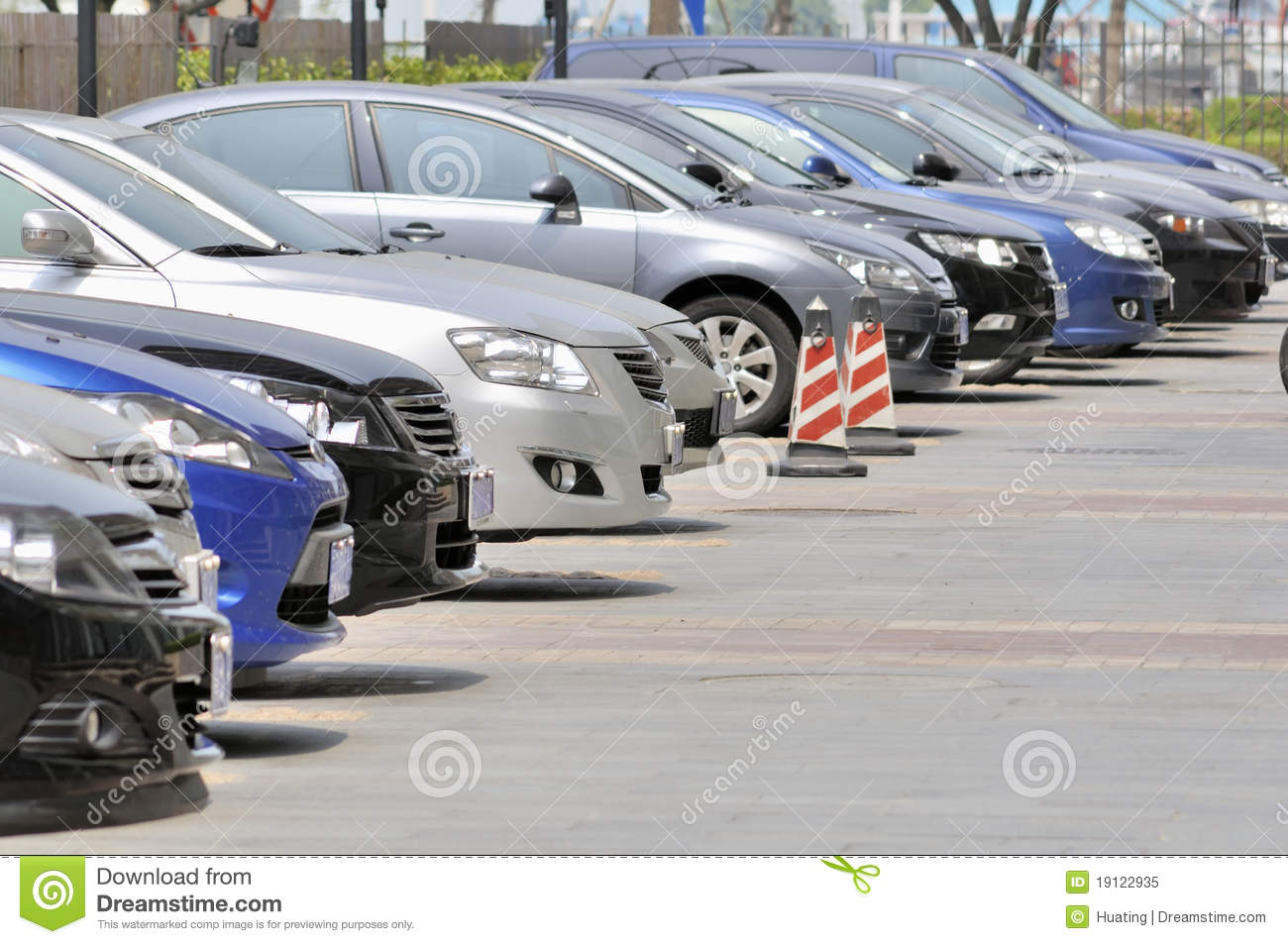 Row of cars parking