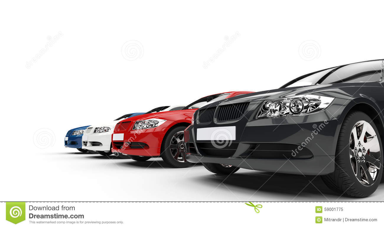 Expensive Car For Sale Or Gift Royalty Free Stock Image: Row Of Cars Stock Illustration. Image Of Design, Luxury
