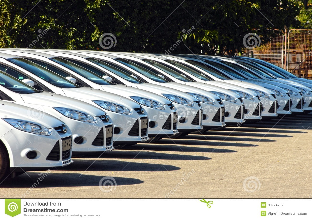 Row Of Cars Stock Photography Image 30924762