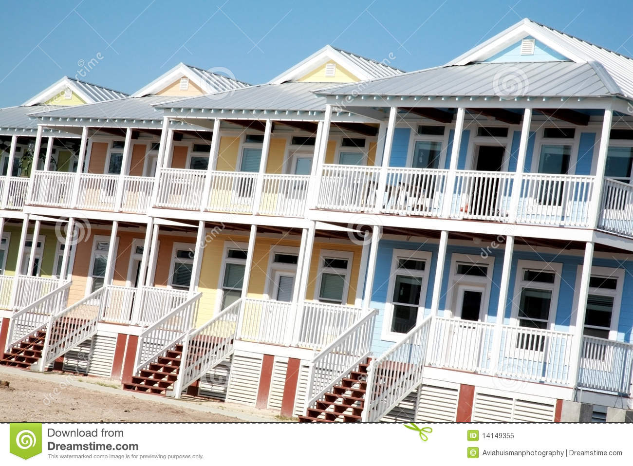 Row Of Colorful Beach Houses Stock Image Image 14149355