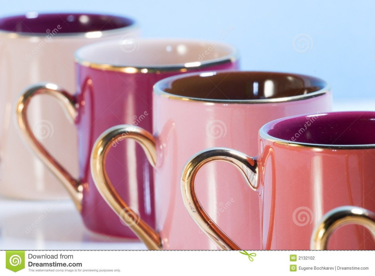 colored coffee mugs row stock image image of container 65346353