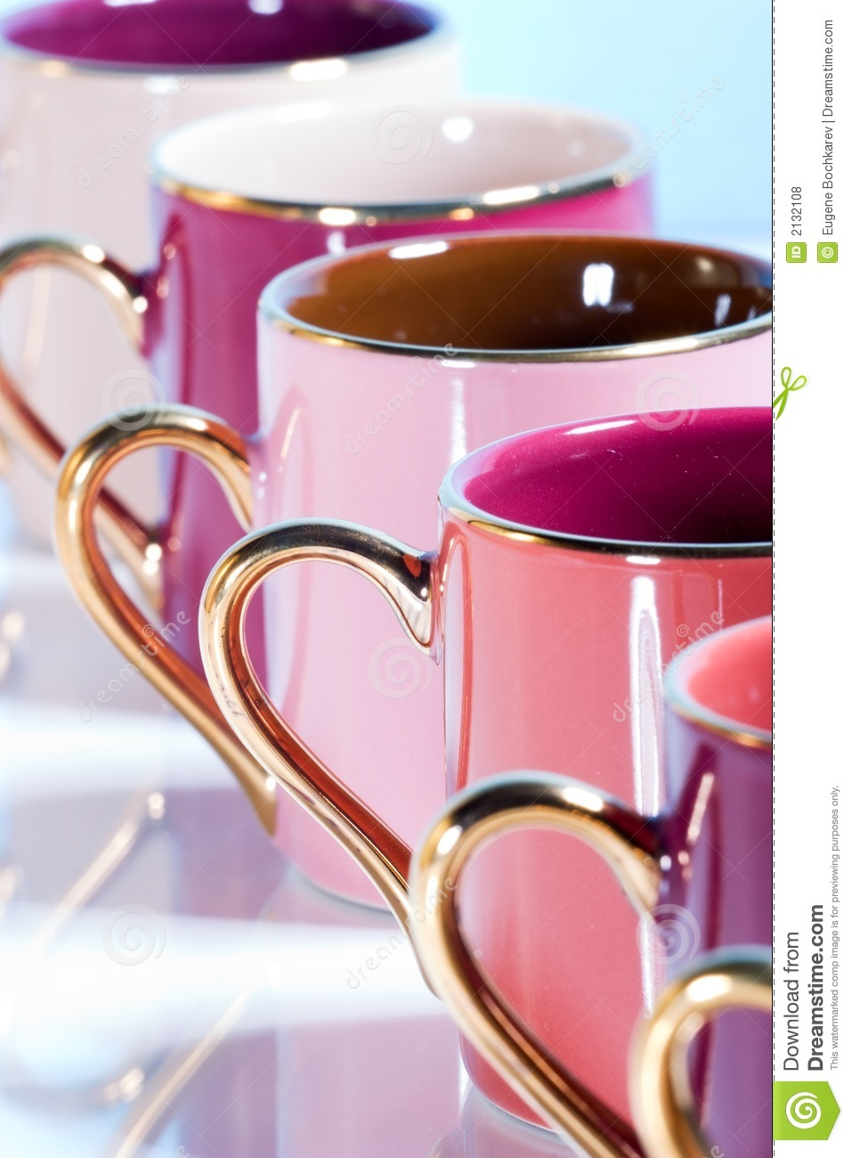 row of colorful coffee cups stock photo image of series cups 2132108