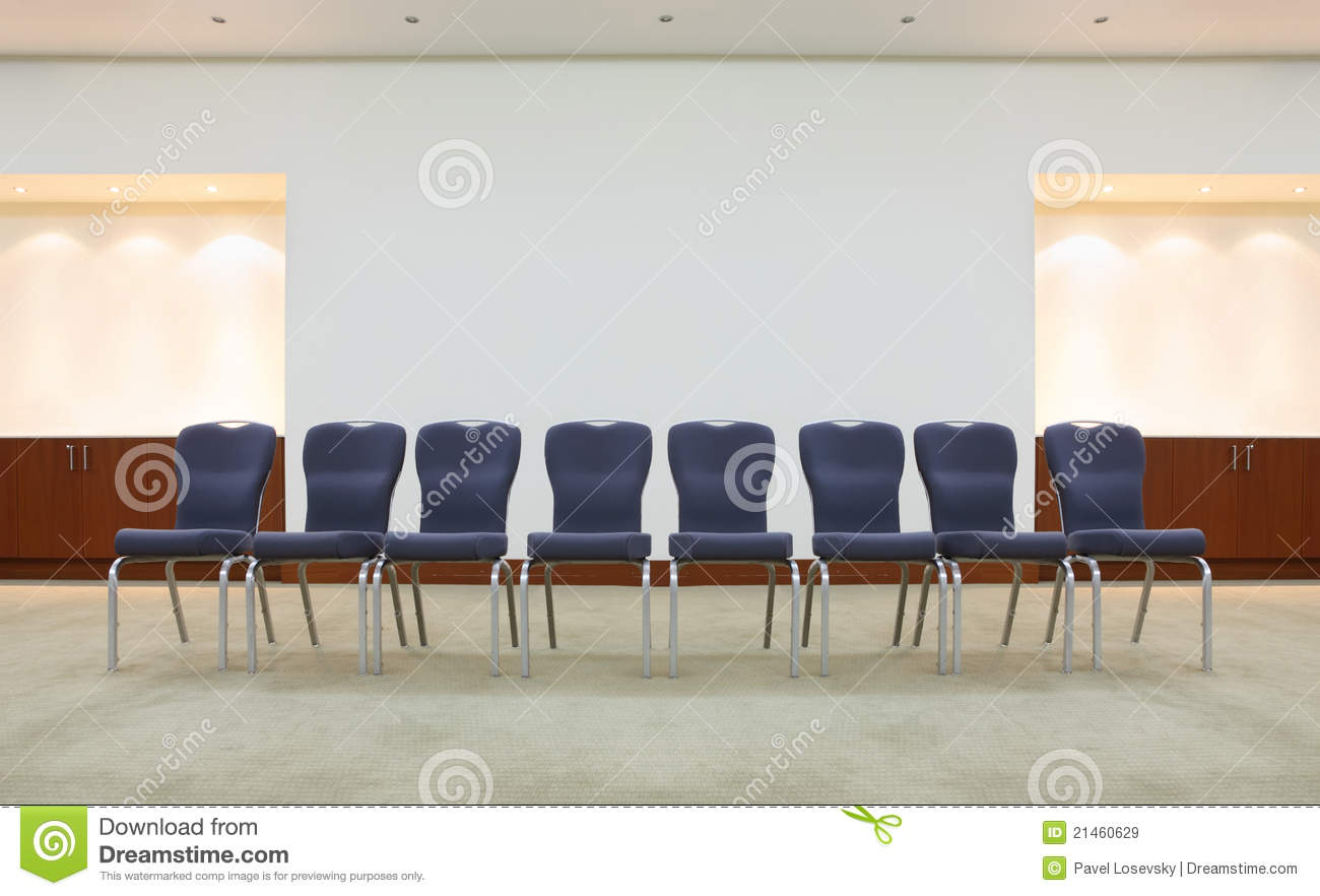 Row Of Comfortable Chairs In Waiting Room Stock Image ...