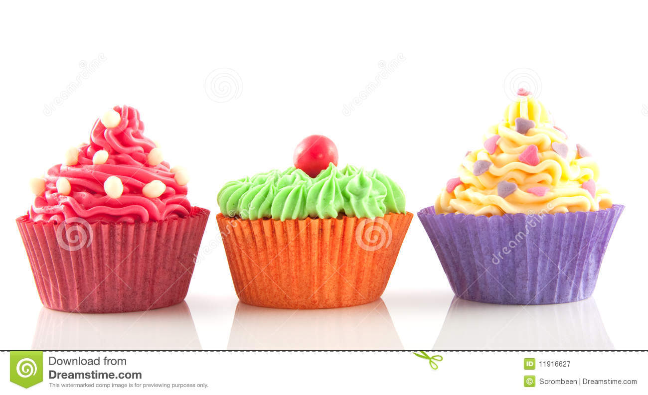 Row Of Cupcakes Stock Image Image Of Sweet Cupcakes