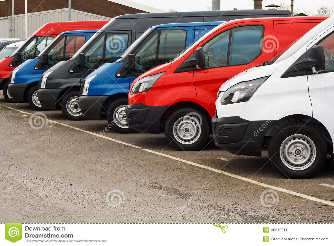 used van sales stock image image 30313211