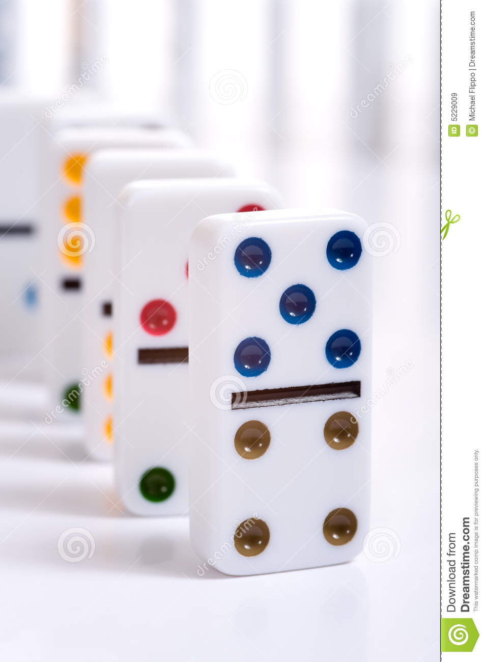 Row of Dominos stock image. Image of dots, decoration - 5229009