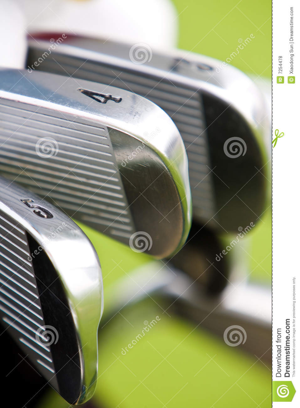 Download Row of golf shaft stock photo. Image of fairway, blue - 7254478