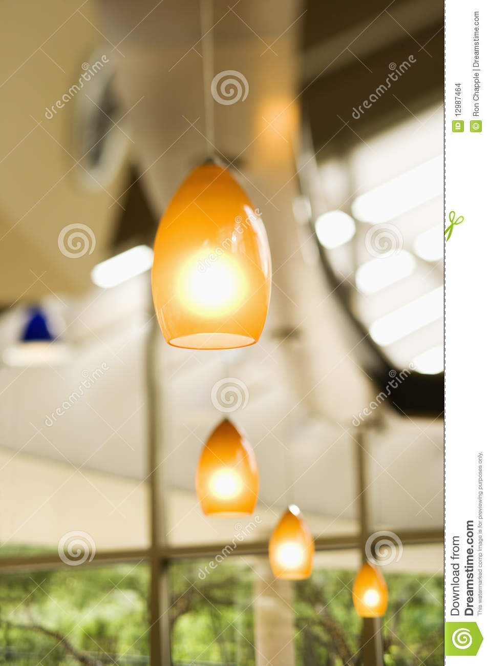 Row Of Hanging Lights Stock Images - Image: 12987464:Row of Hanging Lights,Lighting