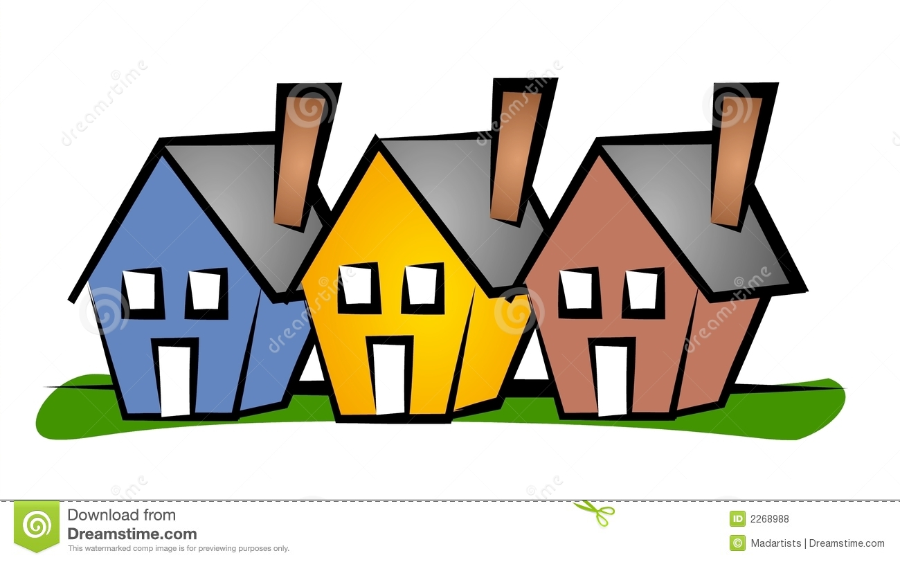 row of houses clip art house stock illustration illustration of rh dreamstime com houses clipart white houses clipart black and white