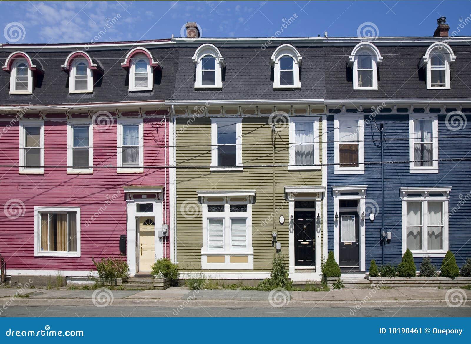 Row houses st john 39 s newfoundland stock image image for Newfoundland houses
