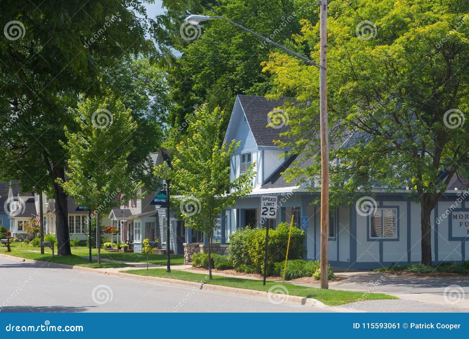 Row of houses on suburban street