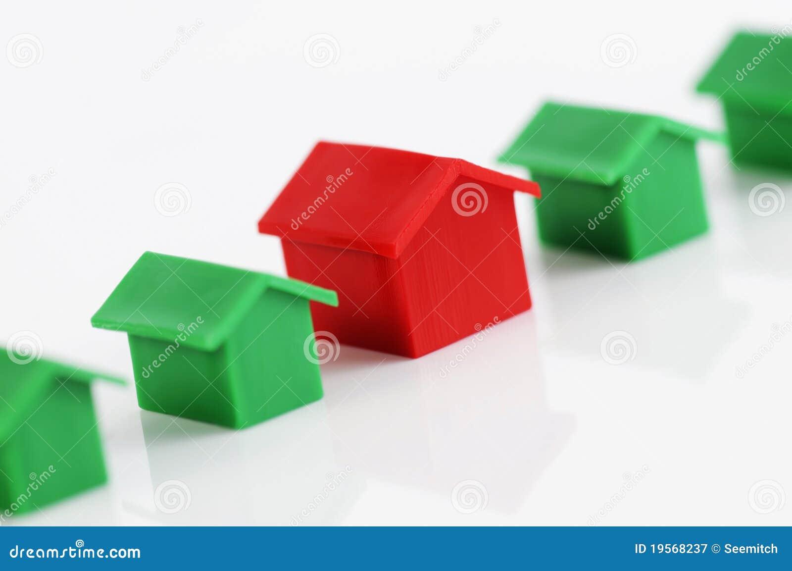 Row of model houses