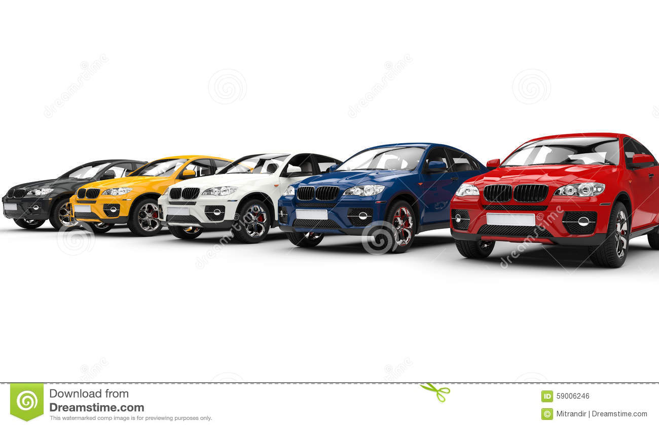 Row Of Off Road Vehicles Stock Illustration - Image: 59006246