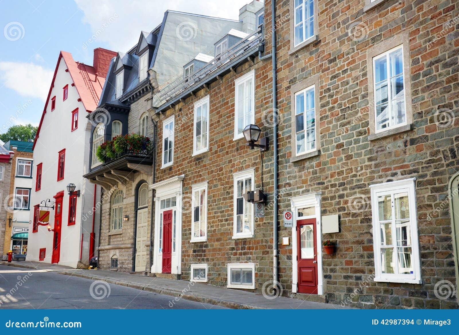 Row Of Old Brick Houses Stock Photo Image 42987394