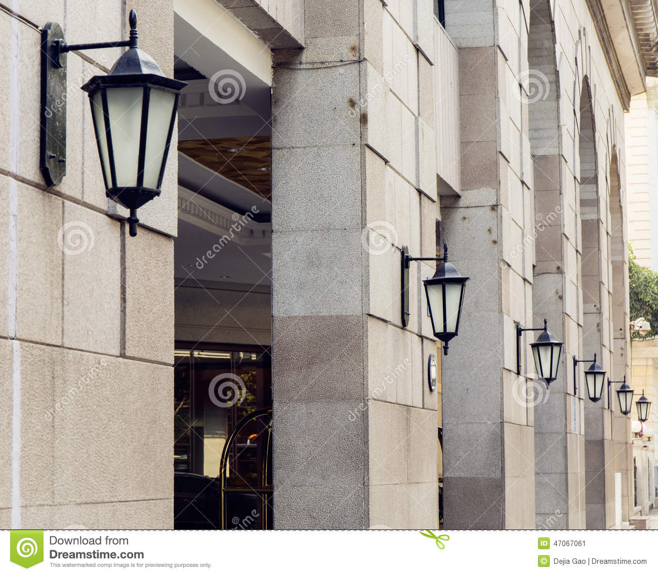 Wall Street S Bright Lights : Outdoor Street Light Wall Lamp Road Lighting Stock Photo - Image: 47067061